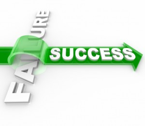 Success Vs Failure - Overcoming an Obstacle to Reach Goal