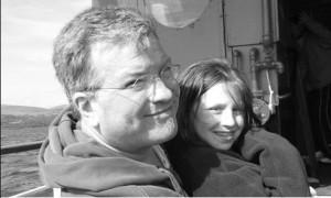 Joe and Katie Crump - seal watching Kenmare Bay, Ireland