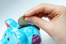 business savings in piggy bank