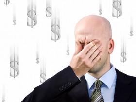 Businessman  suffers from a headache