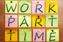 Work part time ad made by post it
