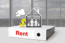 white office binder rent house family