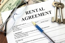 rental agreement, close-up