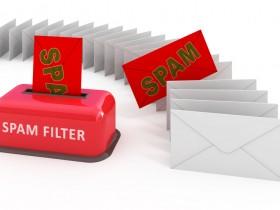 E-mail spam filter 3d concept