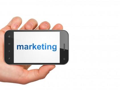 Marketing concept: Marketing on smartphone