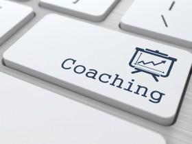 "Business Concept. ""Coaching"" Button."