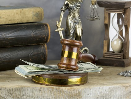 Bribe in a Court Concept