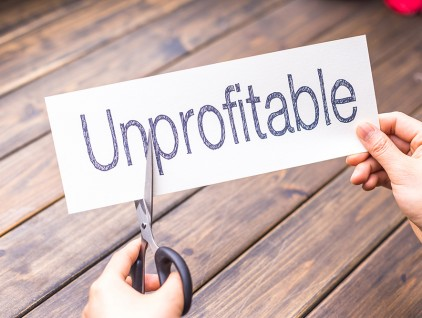 unprofitable to profitable by scissors
